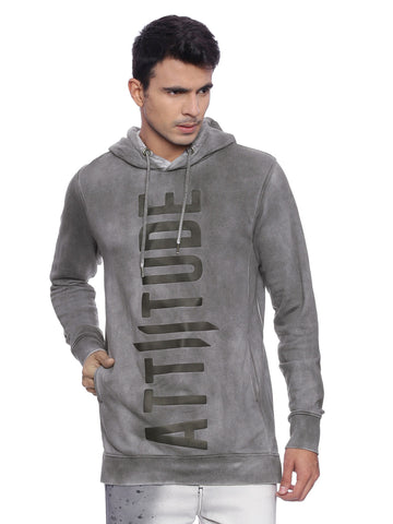 Attiitude Black hoodies with Tape patch
