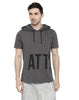 GREY HOODED T-SHIRT WITH WHITE WITH GREY MASK