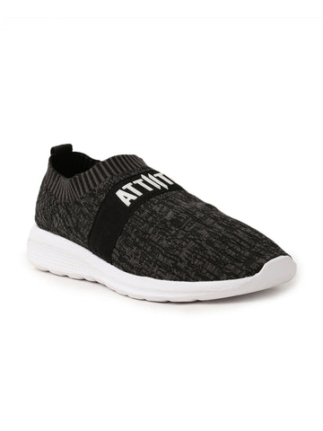 MEN BLACK LACE-UP SPORTS SHOE