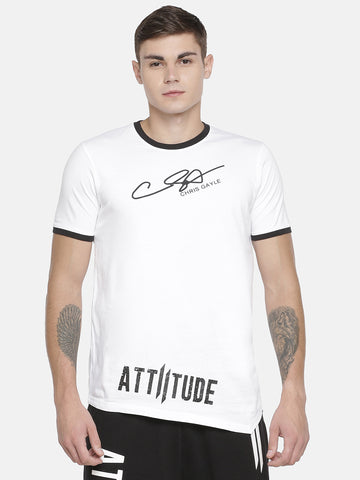 CHRIS GAYLE'S SIGNATURE LIMITED EDITION - WHITE T-SHIRT