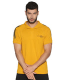 AZORA-MEN'S HALF SLEEVE POLO T-SHIRT-Yellow