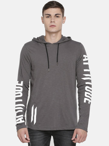 Attiitude panelled hoodies with tie and die treatment