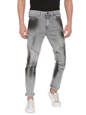 ATTIITUDE GREY DENIM JOGGERS