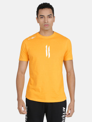 Attiitude Printed Double I Logo On Chest -Yellow