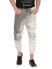 ATTIITUDE OFF WHITE DENIM JOGGERS