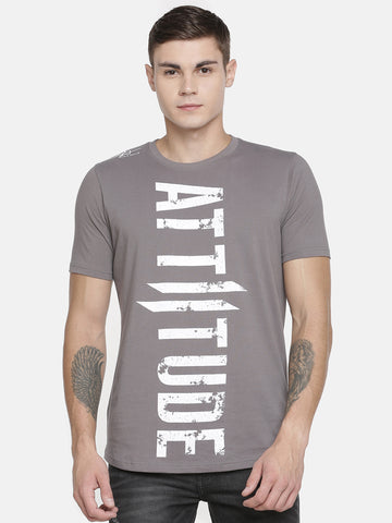 GREY WITH BLACK HD PRINT ON CHEST