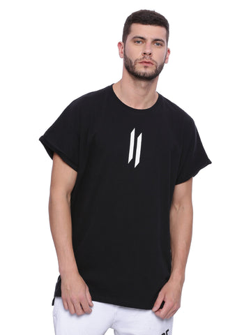 ATTIITUDE Baggy Over Sized T shirt - Black