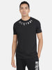 Attiitude Medallion Printed Logo T-Shirt-Black