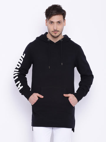 Attiitude jetblack terry hoodies with HD print
