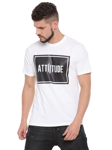 ATTIITUDE panelled t shirt with white flock print - Full Sleeve