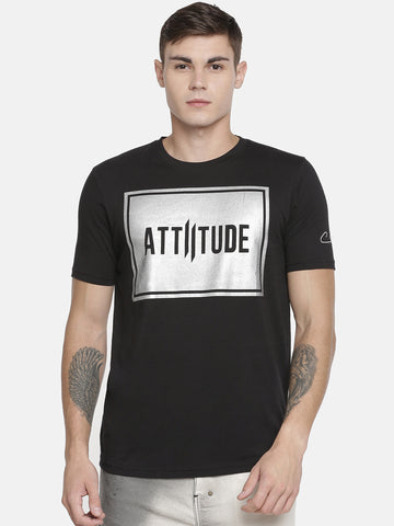 Attiitude Cut-N-Sew Full Sleeve Dark Grey T-Shirt