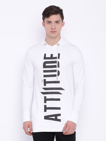 ATTIITUDE Black Overlap hoodie with HD print
