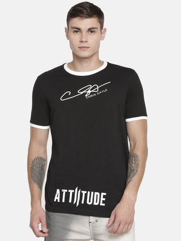 CHRIS GAYLE'S SIGNATURE - GRUNGE WHITE T-SHIRT