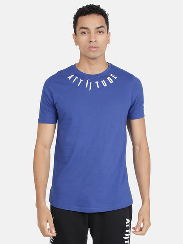 Attiitude Color Block Ribbed neck Men's T-Shirt.