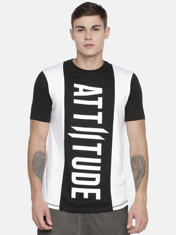 Attiitude Long Hem CPD Print Dark Grey T-Shirt