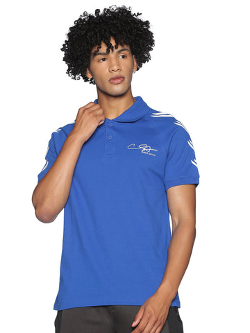 AWAKE-MEN'S HALF SLEEVE POLO T-SHIRT-Royal blue