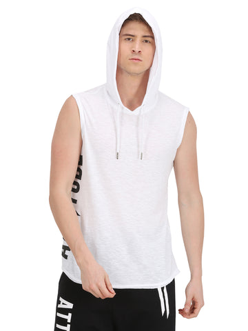DUAL TONE GREY & BLACK HOODED T-SHIRT