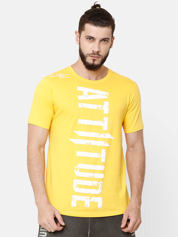 Attiitude Printed Double I Logo On Chest -Torquoise Blue