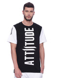 Attiitude Crew neck t-shirt with white sleeve