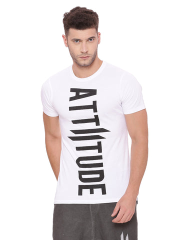 Attiitude Jock-Square Printed T shirt - Black
