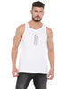 ATTIITUDE HOLLOW LOGO PRINTED WHITE VEST