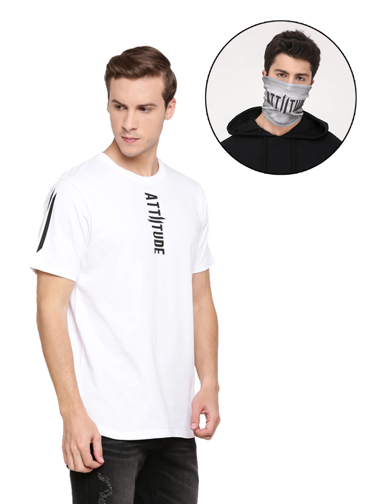 WHITE TSHIRT AND MASK