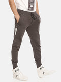 Dark Grey Slim Fit Jogger With Logo Print