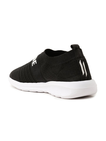 Men Solid Black Slip-On Sneaker