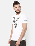Attiitude Diagonal Printed T-Shirt  White