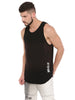 ATTIITUDE BLACK VEST WITH ORANGE WASH