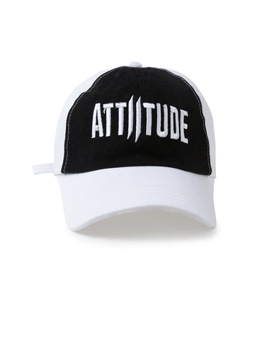 Black and White Front Attiitude Cap