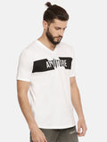 White T-Shirt With Brand Logo Print On Chest