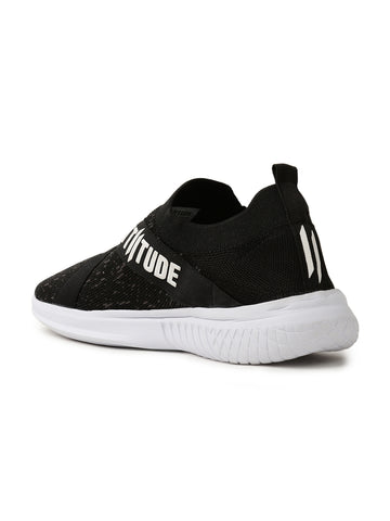Men Textured Mesh Slip-On Sneakers