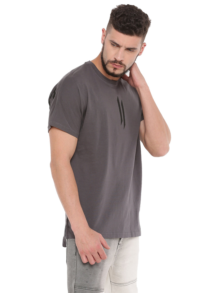 ATTIITUDE GREY BOXY FIT T-SHIRT