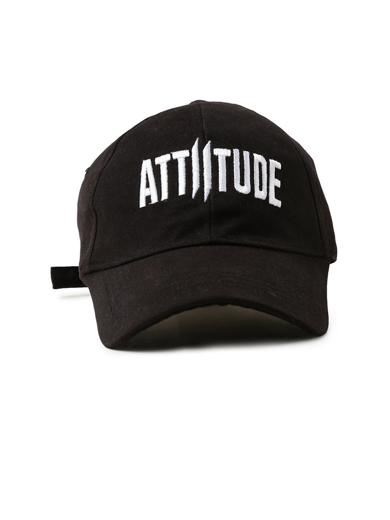 Black Color Front Attiitude logo Cap