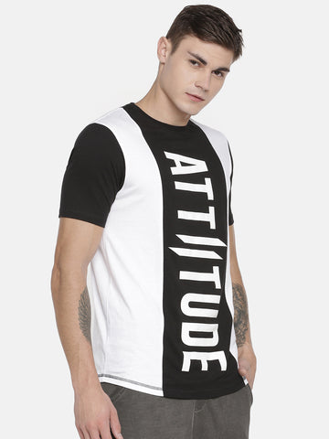 Attiitude Color Block HD Printed Men's T-shirt