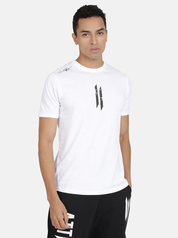 Attiitude Printed Double I Logo On Chest -White