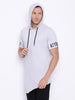 Attiitude light grey half sleeve hoodies