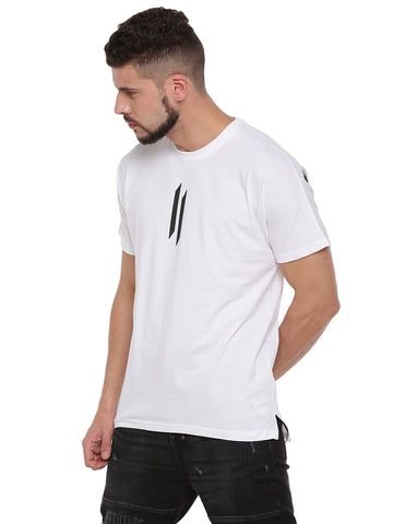 ATTIITUDE WHITE BOXY FIT T-SHIRT
