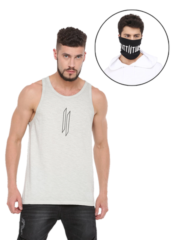 CHRIS GAYLE SIGNATURE COLLECTION WHITE T-SHIRT WITH HD PRINT AND BLACK MASK