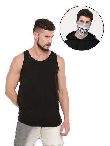 BLACK TSHIRT AND MASK