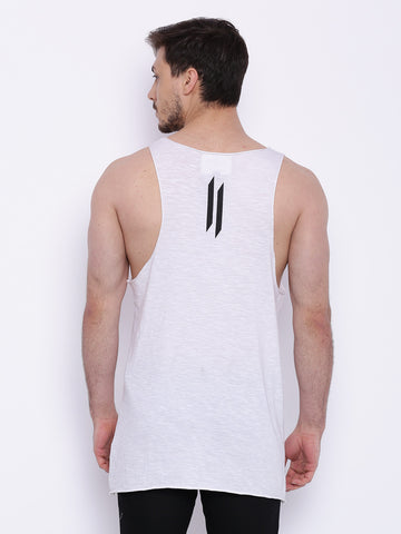 Attiitude White Vest with Front Pocket