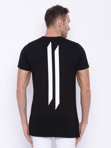 Attiitude Black  Printed   T-shirt