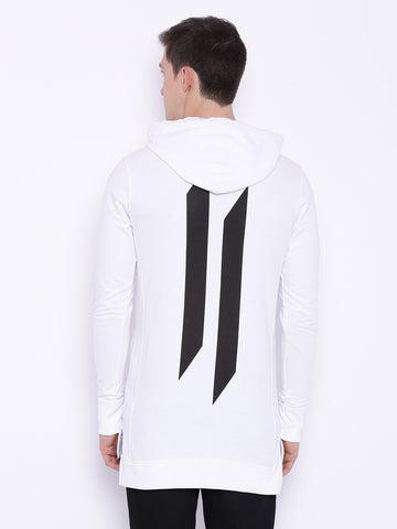 Attiitude smoke white hoodies with hd print