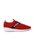 Men Red Slip-On Sneaker Styled Attiitude Tape