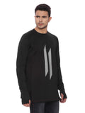Attiitude Black Sweatshirts  with Silicon Print