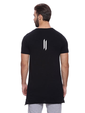Attiitude Black Raw Edge Panel T-shirt