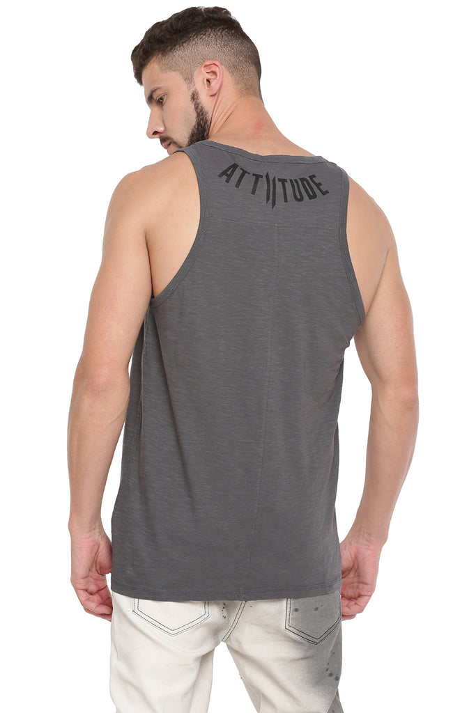 ATTIITUDE HOLLOW LOGO GREY VEST AND CAP