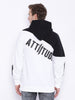 Attiitude Black & White Dual Tone Quilted Hoodies