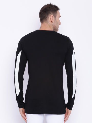 Attiitude  Basic Black Full sleeve     T - shirt